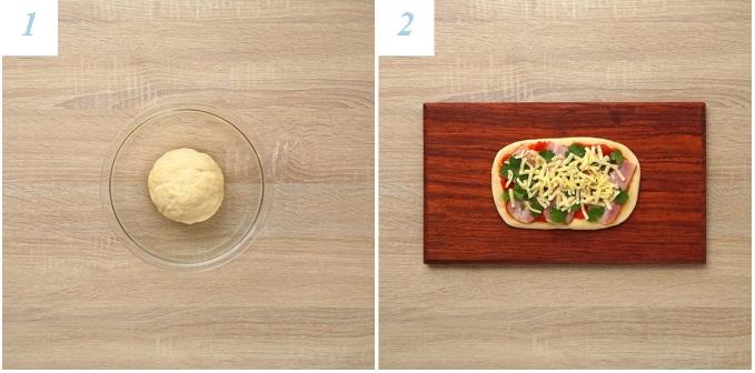 「パクチーベーコンのちぎりパン」のレシピ2
