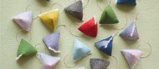 「duca -textile-」の会津木綿を使ったフリンジ付きアクセサリー