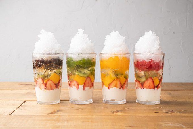 池袋の「atari CAFE&DINING」の「フルーツタピ氷」2