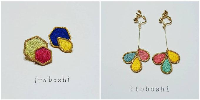 「itoboshi」のオーガンジーイヤリング