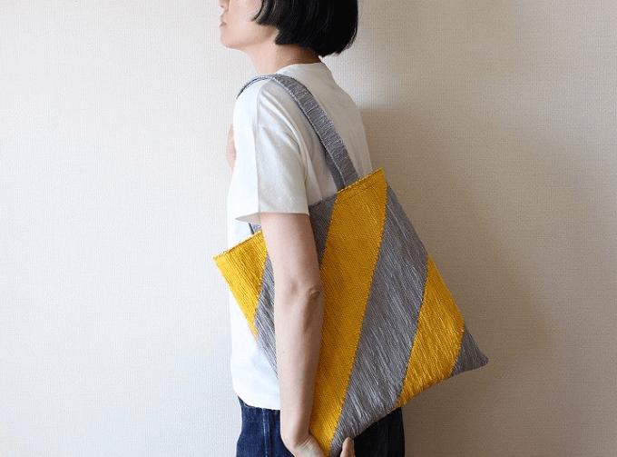 いわもとあきこさんが作るき織りバッグ5
