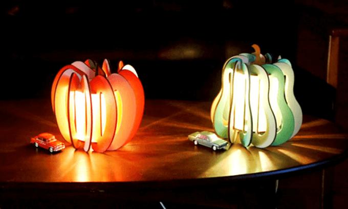 「minow plus」の木製フロアランプ