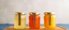 生搾りフルーツゼリー 3種類の小瓶