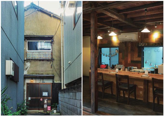 都内のおすすめ古民家カフェ「つむぐり」の外観と店内写真