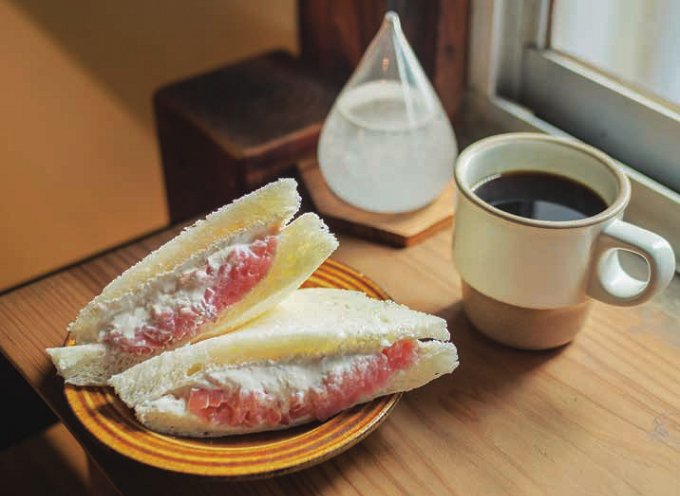 都内のおすすめ古民家カフェ「つむぐり」のフルーツサンド