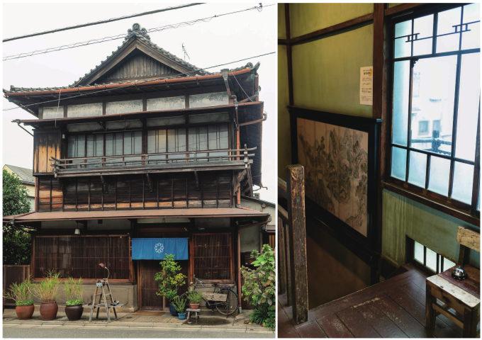 都内のおすすめ古民家カフェ「蓮月」の外観と店内写真