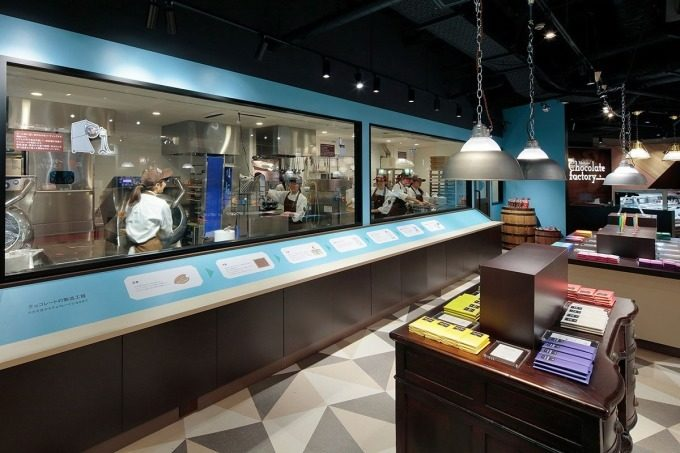 横浜チョコレートファクトリー&ミュージアムの内装