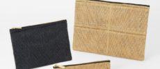 パルプ100%を原料とする紙製の紐で作られた「ペーパーコード」の小物