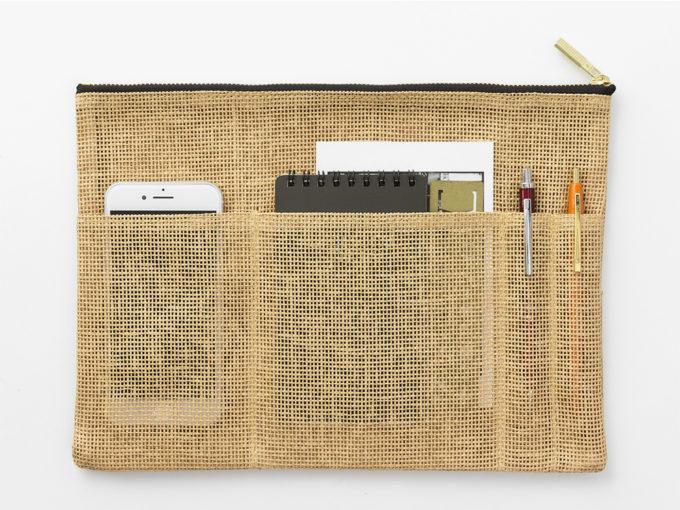 パルプ100%を原料とする紙製の紐で作られた「ペーパーコード」のバッグインバッグ