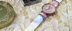 手持ちの腕時計を簡単に着せ替えられるウォッチベルト「TAD STRAP」1のアップ
