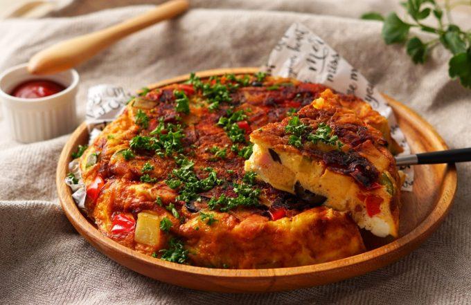 「クリームチーズ入りスペイン風オムレツ」のレシピ