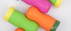 ビタミンカラーのシリコーンボトル「FlipBottle Bapa(フリップボトルバーパ)」