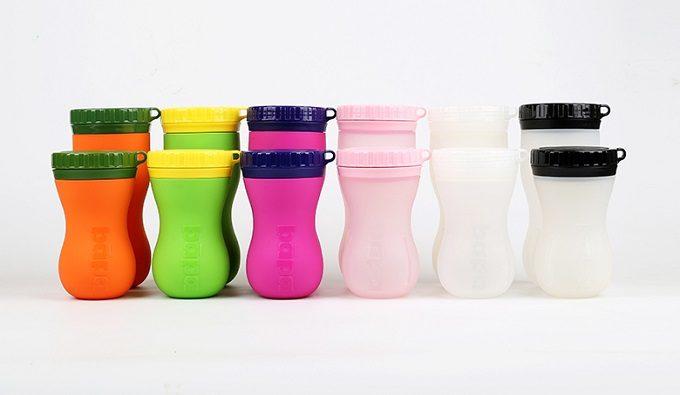 シリコーンボトル「FlipBottle Bapa(フリップボトルバーパ)」のさまざまなカラー