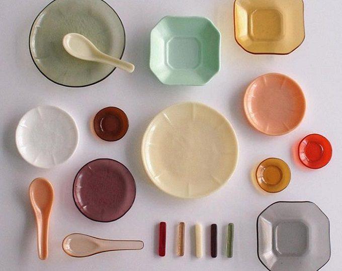 ガラス作家・池谷三奈美さんの、さまざまな質感と懐かしい雰囲気が楽しめる器やれんげ、箸置きなど