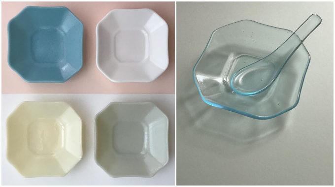 ガラス作家・池谷三奈美さんの、ツルリとした質感の小鉢