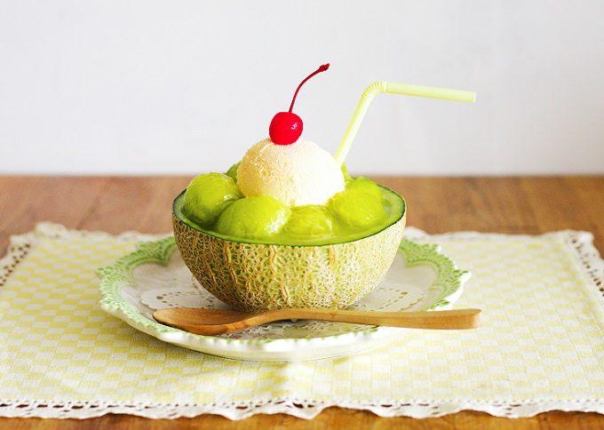 まるごとメロンのクリームソーダレシピ2