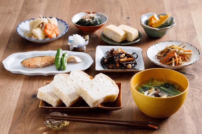 整腸作用も期待できる「あさニコ」食パンと和食