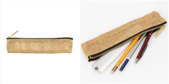 パルプ100%を原料とする紙製の紐で作られた「ペーパーコード」のペンケース