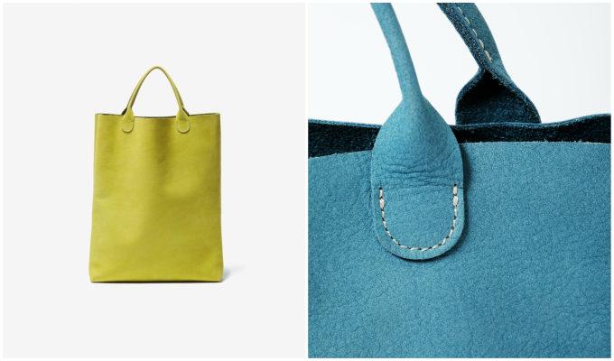 「TASINAMI」のヌバックのバッグ