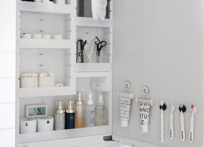 洗面所の簡単収納アイデア2