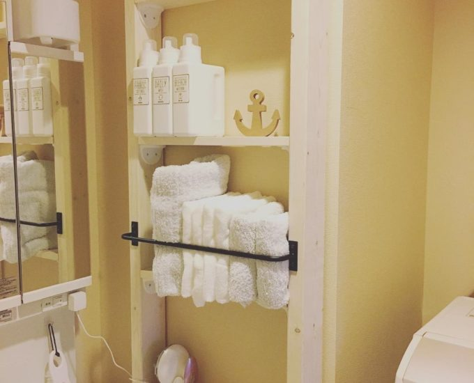 洗面所の簡単収納アイデア20