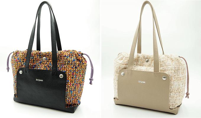 「Brijean Bags」の着せ替えバッグ、ツイード素材