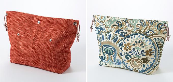 「Brijean Bags」の着せ替えバッグ、無地やプリントのバッグ
