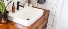 洗面所の簡単収納アイデア1
