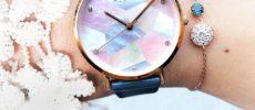 「ALETTE BLANC(アレットブラン)」の幾何学模様の文字盤が輝く腕時計 リリーコレクション1