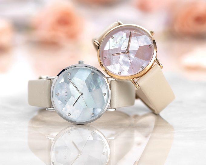 「ALETTE BLANC(アレットブラン)」の幾何学模様の文字盤が輝く腕時計 リリーコレクション2