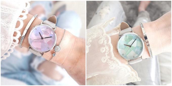 「ALETTE BLANC(アレットブラン)」の幾何学模様の文字盤が輝く腕時計 リリーコレクション 人気のライラック、ミント