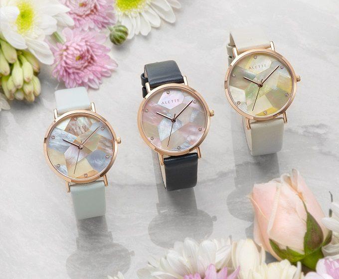 「ALETTE BLANC(アレットブラン)」の幾何学模様の文字盤が輝く腕時計 リリーコレクション4