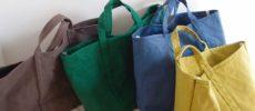 柔らかな風合いとベイクドカラーが魅力の「BLUESTORE's」のさまざまな帆布トートバッグ
