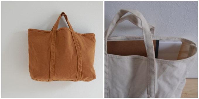 柔らかな風合いとベイクドカラーが魅力の「BLUESTORE's」の帆布トートバッグ2