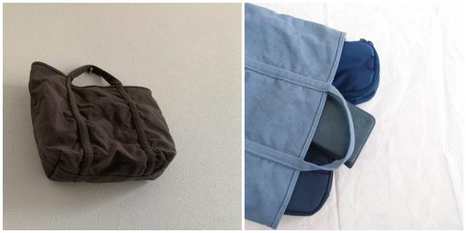 柔らかな風合いとベイクドカラーが魅力の「BLUESTORE's」の帆布トートバッグ4