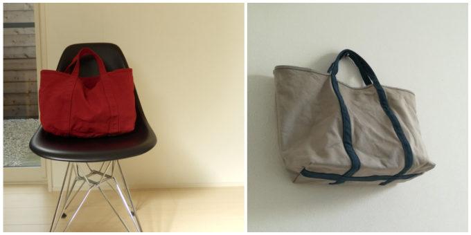 柔らかな風合いとベイクドカラーが魅力の「BLUESTORE's」の帆布トートバッグ6