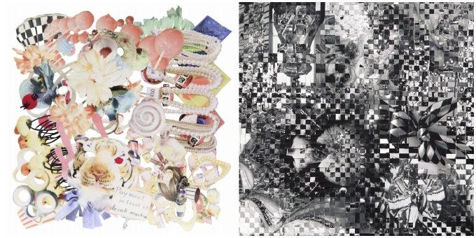 フォトコラージュアーティスト・チヒロボさんのmapsシリーズと織り込むシリーズの作品