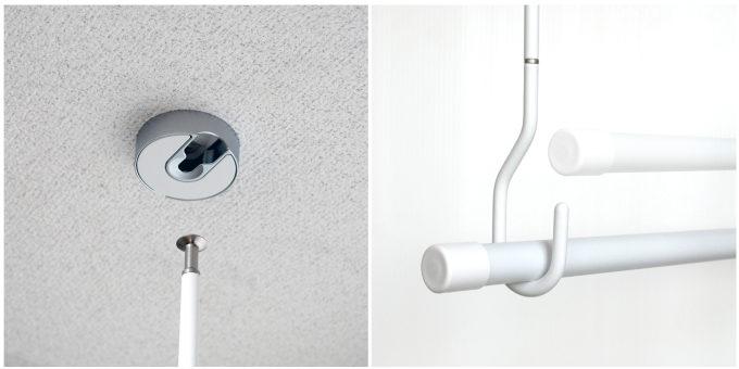 室内干しにおすすめ、インテリアを邪魔しない物干しシリーズ「hoss nagae(ホスナガエ)」使用方法