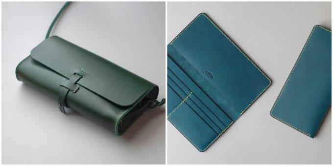 皮革製品の製作所「くも舎」の手作りのバッグやお財布