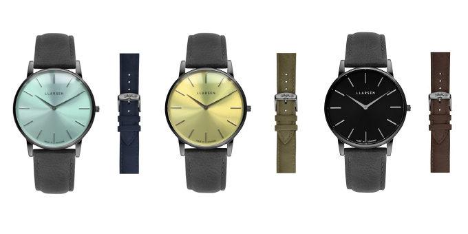 デンマーク発腕時計ブランド「LLARSEN(エルラーセン)」の「Oliver」の新作3種