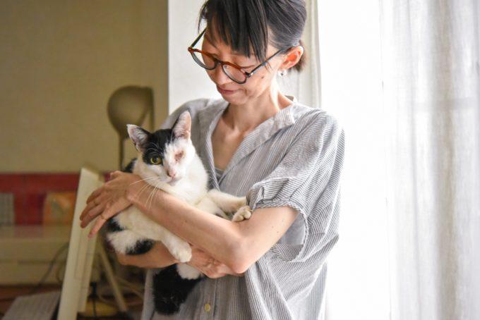 陶芸家・清水直子さんと愛猫2