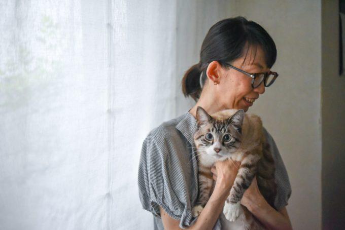 陶芸家・清水直子さんと愛猫1