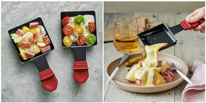 「ラクレット&フォンデュメーカー グランメルト」のミニパンを使ったチーズ料理例