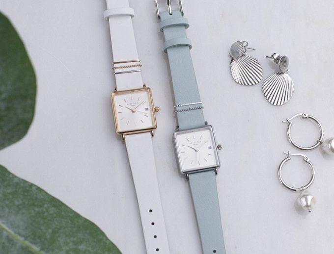 「ROSEFIELD(ローズフィールド)」のシンプルで上品なスクエア型の腕時計「The Boxy XS」1