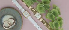 「ROSEFIELD(ローズフィールド)」のシンプルで上品なスクエア型の腕時計