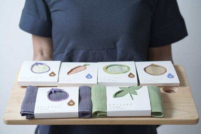 大阪・泉州地域の伝統野菜で染められた「雫~SHIZUKU~」タオル4