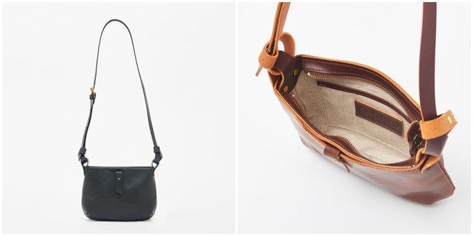 革製品ブランド「SLOW」のシンプルなショルダーバッグ