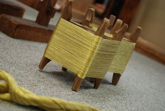 「絲 tabane」に用いられる純金糸