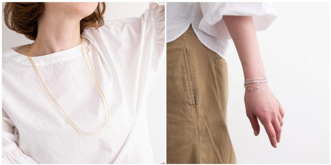 束ねて作られるアクセサリー「絲 tabane」の新作ネックレス