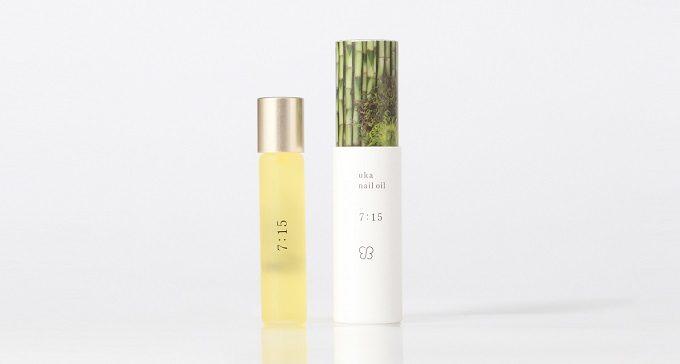 日常の中でネイルケアする時間を想定した「uka nail oil(ウカ ネイルオイル)」の朝用オイル「7:15(ナナイチゴ)」